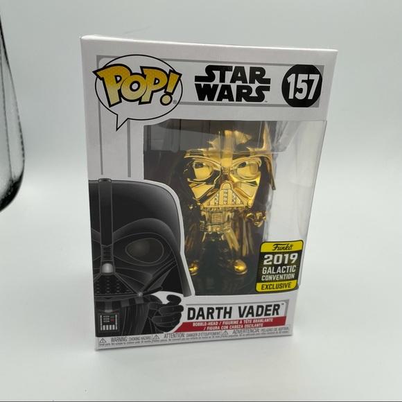 NWT Darth Vader Gold/Chrome Funko Pop
